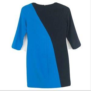 Ann Taylor Color Block Career Sheath Dress Sz 0